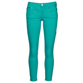 vaatteet Naiset 5-taskuiset housut Freeman T.Porter ALEXA CROPPED NEW MAGIC COLOR Viridian / Vihreä