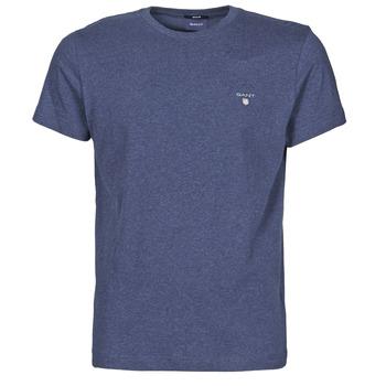 vaatteet Miehet Lyhythihainen t-paita Gant THE ORIGINAL T-SHIRT Laivastonsininen / Mustaruudullinen
