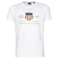 vaatteet Miehet Lyhythihainen t-paita Gant ARCHIVE SHIELD Valkoinen