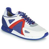 kengät Miehet Matalavartiset tennarit Emporio Armani EA7 SAPONI Valkoinen / Sininen / Punainen