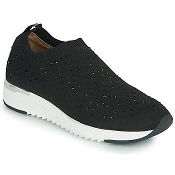 kengät Naiset Matalavartiset tennarit Caprice 24700 Musta