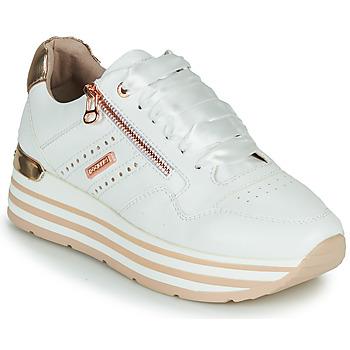 kengät Naiset Matalavartiset tennarit Dockers by Gerli 44CA207-592 Valkoinen