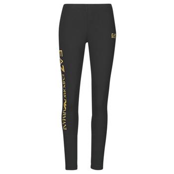 vaatteet Naiset Legginsit Emporio Armani EA7 8NTP63-TJ01Z-0200 Musta / Kulta