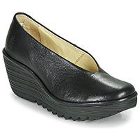 kengät Naiset Korkokengät Fly London YAZ Musta