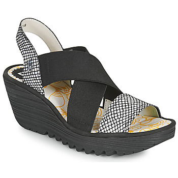 kengät Naiset Sandaalit ja avokkaat Fly London YAJI Musta / Valkoinen