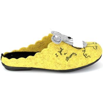 kengät Tossut La Maison De L'espadrille Mule Souris Jaune Keltainen