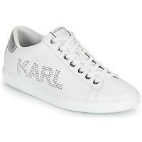 kengät Naiset Matalavartiset tennarit Karl Lagerfeld KUPSOLE II KARL PUNKT LOGO LO Valkoinen