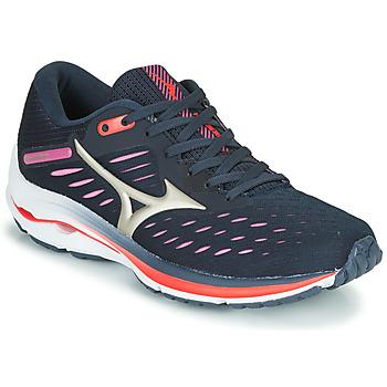 kengät Naiset Juoksukengät / Trail-kengät Mizuno WAVE RIDER 24 Violetti / Vaaleanpunainen