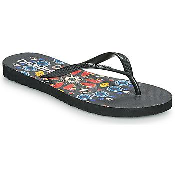 kengät Naiset Varvassandaalit Desigual FLIP FLOP BUTTERFLY Musta
