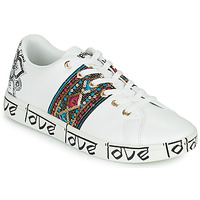 kengät Naiset Matalavartiset tennarit Desigual COSMIC EXOTIC INDIAN White