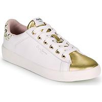 kengät Naiset Matalavartiset tennarit Pepe jeans KIOTO FIRE Valkoinen / Kulta