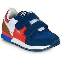 kengät Pojat Matalavartiset tennarit Pepe jeans SYDNEY TREND BOY KIDS SS21 Sininen / Punainen