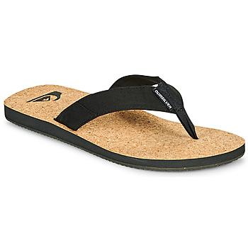 kengät Miehet Varvassandaalit Quiksilver MOLOKAI ABYSS NATURAL Musta