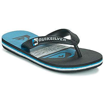kengät Lapset Varvassandaalit Quiksilver MOLOKAI PANEL YOUTH Musta / Sininen