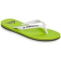 kengät Miehet Varvassandaalit Quiksilver MOLOKAI Vihreä / Valkoinen