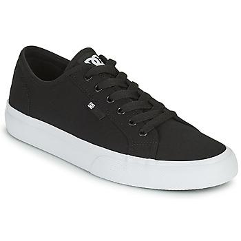 kengät Miehet Skeittikengät DC Shoes MANUAL Musta / Valkoinen
