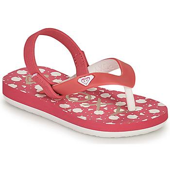 kengät Tytöt Varvassandaalit Roxy TW TAHITI VI Vaaleanpunainen