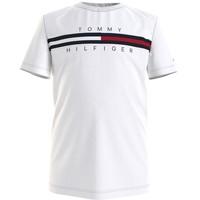 vaatteet Pojat Lyhythihainen t-paita Tommy Hilfiger KB0KB06532-YBR Valkoinen