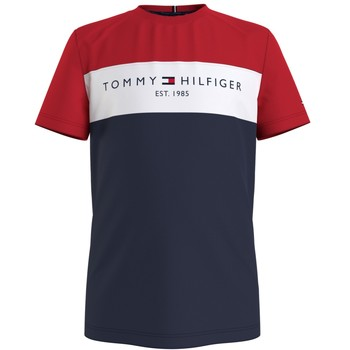 vaatteet Pojat Lyhythihainen t-paita Tommy Hilfiger KB0KB06534-C87 Monivärinen