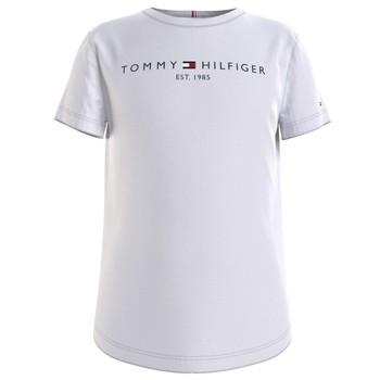 vaatteet Tytöt Lyhythihainen t-paita Tommy Hilfiger KG0KG05242-YBR Valkoinen