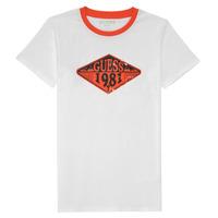 vaatteet Pojat Lyhythihainen t-paita Guess L1GI09-K8HM0-TWHT Valkoinen