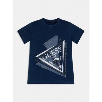 vaatteet Pojat Lyhythihainen t-paita Guess L1RI15-K8GA0-F233 Sininen