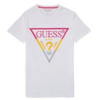 vaatteet Pojat Lyhythihainen t-paita Guess H1RJ05-K8HM0-P66P Valkoinen