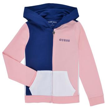 vaatteet Tytöt Svetari Guess K1RQ00-KA6R0-F672 Valkoinen / Vaaleanpunainen