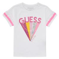 vaatteet Tytöt Lyhythihainen t-paita Guess K1RI04-K6YW1-TWHT Valkoinen
