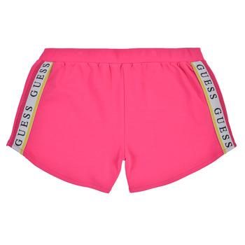 vaatteet Tytöt Shortsit / Bermuda-shortsit Guess J1GD12-KAE20-JLPK Vaaleanpunainen