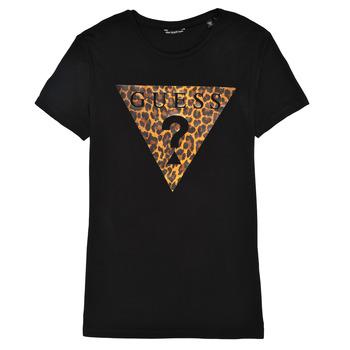 vaatteet Tytöt Lyhythihainen t-paita Guess J1RI27-K9MV0-P954 Musta