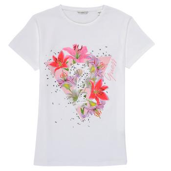 vaatteet Tytöt Lyhythihainen t-paita Guess J1RI24-K6YW1-TWHT Valkoinen