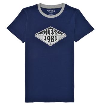 vaatteet Pojat Lyhythihainen t-paita Guess L1GI09-K8HM0-DEKB Laivastonsininen