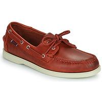 kengät Miehet Purjehduskengät Sebago PORTLAND WAXED Punainen