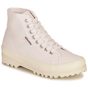 kengät Naiset Korkeavartiset tennarit Superga 2341 ALPINA COTU Valkoinen