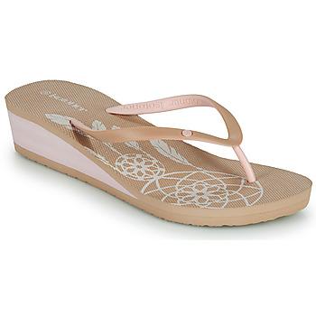 kengät Naiset Varvassandaalit Isotoner FRADA Beige
