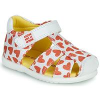 kengät Tytöt Sandaalit ja avokkaat Agatha Ruiz de la Prada HAPPY Valkoinen / Punainen