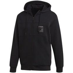 vaatteet Miehet Svetari adidas Originals Sport Icon FZ Hoodie Mustat