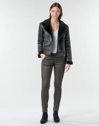 vaatteet Naiset 5-taskuiset housut Le Temps des Cerises ANDREA Black