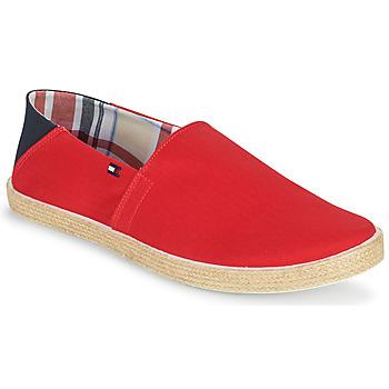 kengät Miehet Espadrillot Tommy Hilfiger EASY SUMMER SLIP ON Punainen