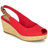 kengät Naiset Sandaalit ja avokkaat Tommy Hilfiger ICONIC ELBA SLING BACK WEDGE Oranssi