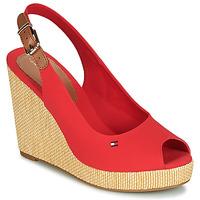 kengät Naiset Sandaalit ja avokkaat Tommy Hilfiger ICONIC ELENA SLING BACK WEDGE Oranssi
