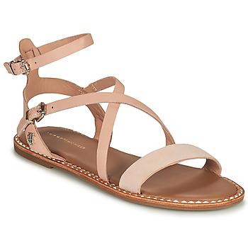 kengät Naiset Sandaalit ja avokkaat Tommy Hilfiger ESSENTIAL TOMMY FLAT SANDAL Konjakki