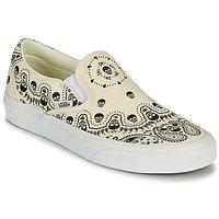 kengät Tennarit Vans CLASSIC SLIP ON Beige / Musta