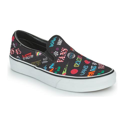 kengät Tennarit Vans CLASSIC SLIP ON Musta / Monivärinen