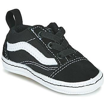 kengät Lapset Matalavartiset tennarit Vans OLD SKOOL CRIB Musta / Valkoinen