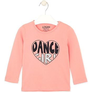 vaatteet Lapset T-paidat & Poolot Losan 026-1632AL Vaaleanpunainen