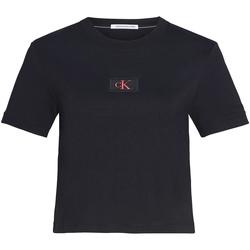 vaatteet Naiset T-paidat & Poolot Calvin Klein Jeans J20J214148 Musta