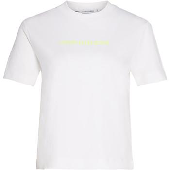 vaatteet Naiset T-paidat & Poolot Calvin Klein Jeans J20J214220 Valkoinen