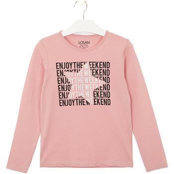 vaatteet Lapset T-paidat & Poolot Losan 024-1631AL Vaaleanpunainen